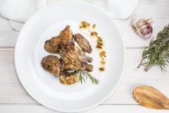Garlic Chicken Spanish style Royalty Free Stock Image