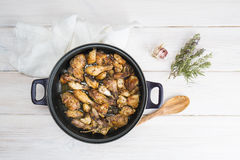 Garlic Chicken Spanish style Royalty Free Stock Photos