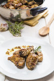 Garlic Chicken Spanish style Royalty Free Stock Images
