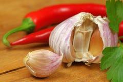 Garlic and chili Royalty Free Stock Image
