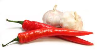 Garlic and chili Royalty Free Stock Photos