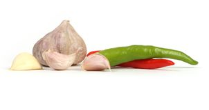Garlic and chilli Royalty Free Stock Photos