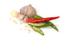Garlic and chilli Stock Photography