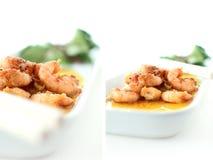 Garlic & Chilli Prawns Stock Photo