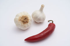 Garlic and chilly Royalty Free Stock Photos