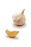 Garlic clove and bulb Stock Photos