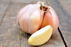 Garlic clove and purified Stock Photo