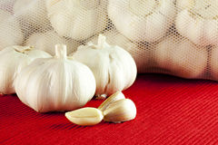 Garlic cloves stock photos