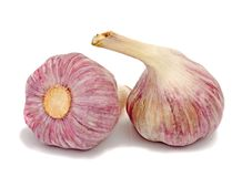 Garlic and cloves Royalty Free Stock Images