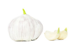 Garlic with cloves Royalty Free Stock Images