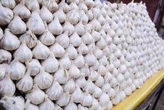 Garlic Cloves Arranged For Sale Stock Images