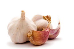 Garlic cloves with bulbs Royalty Free Stock Photo