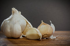 Garlic cloves detail Stock Photography