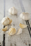 Garlic Cloves. A few broken up garlic cloves Stock Photo