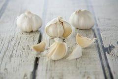Garlic Cloves. A few broken up garlic cloves Royalty Free Stock Photos