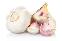 Garlic and cloves group Royalty Free Stock Photography