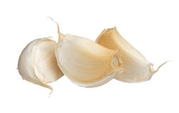 Garlic cloves isolated on white background, close up. Stock Image