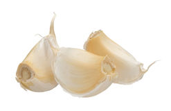 Garlic cloves isolated on white background, close up. Stock Images