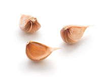 Garlic cloves isolated on white background Royalty Free Stock Photography