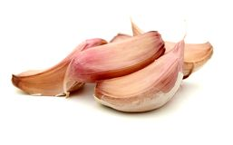 Garlic cloves. On white background Royalty Free Stock Photography