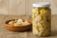 Garlic confit Stock Image