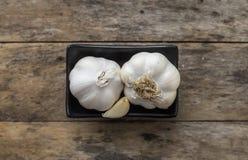 garlic Cravos-da-índia de alho e bulbo do alho Foto de Stock Royalty Free