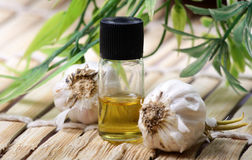 Garlic essence Stock Photo