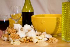 Garlic in every form Royalty Free Stock Photo