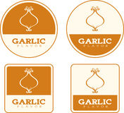 Garlic Flavor Food Labels Royalty Free Stock Image