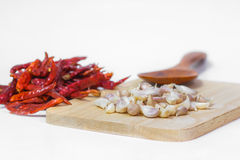 Garlic. Food spice eating vegetable Royalty Free Stock Image