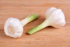 Garlic. Fresh garlic on a cutting board Royalty Free Stock Photos