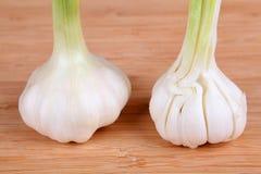 Garlic. Fresh galic on e cutting board Stock Photography