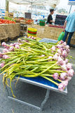 Garlic freshly picked street market La Ciotat Stock Image