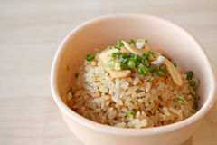 Garlic Fried Rice. Food of Japanese For Eat healthy royalty free stock photo