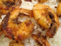 Garlic Fried Shrimp Stock Images