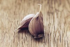 Garlic. Garlic Bulb on  wooden  background., concept healthy lifestyle stock photo