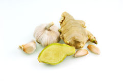 Garlic and ginger Stock Image