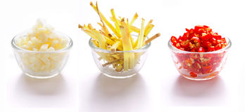 Garlic, Ginger And Red Chilies Stock Photo