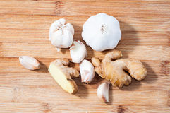 Garlic and ginger Stock Photography