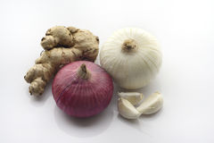 Garlic ginger and onion Royalty Free Stock Photo