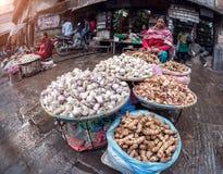 Garlic and ginger shop in Kathmandu Royalty Free Stock Photos