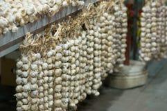 Garlic at green market Royalty Free Stock Photos