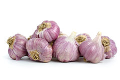 Garlic heads. Isolated on the white background Stock Photo