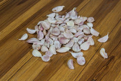 Garlic heap. Stock Photo