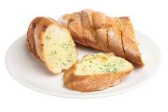 Garlic & Herb Baguette. Freshly-baked garlic and herb baguette Royalty Free Stock Photo