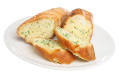 Garlic & Herb Bread. Crusty garlic and herb baguette Royalty Free Stock Image