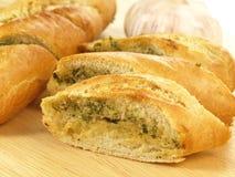 Garlic and herb bread, closeup Stock Image