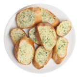 Garlic & Herb Bread Slices Royalty Free Stock Images