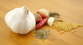 Garlic And Herbs Royalty Free Stock Image