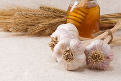 Garlic and honey Stock Photos